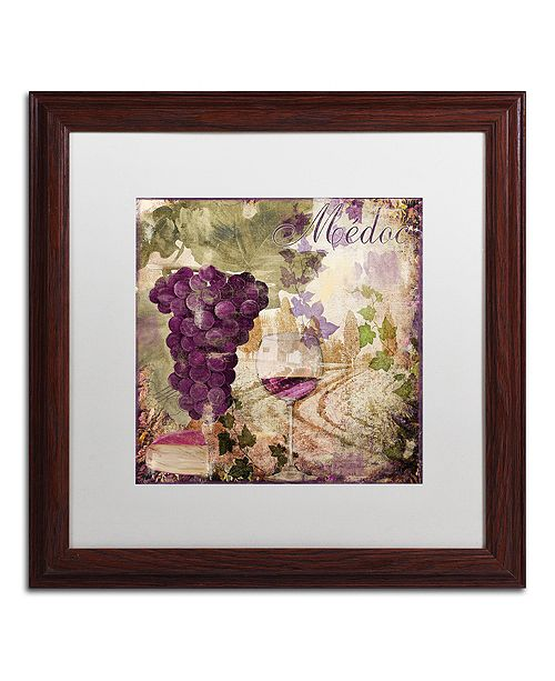 "Trademark Global Color Bakery 'Wine Country Iv' Matted Framed Art, 16"" x 16"""