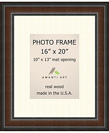 """Amanti Art Cyprus Walnut 16"""" X 20"""" Matted to 10"""" X 13"""" Opening Wall Picture Photo Frame"""