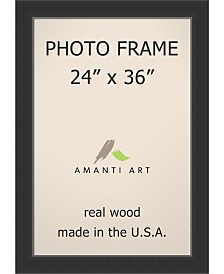 "Amanti Art Corvino Black 24"" X 36"" Opening Wall Picture Photo Frame"