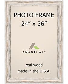 "Amanti Art Alexandria Whitewash 24"" X 36"" Opening Wall Picture Photo Frame"