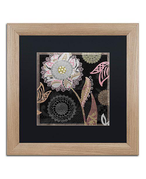 "Trademark Global Color Bakery 'Daisy Cartwheels I' Matted Framed Art, 16"" x 16"""