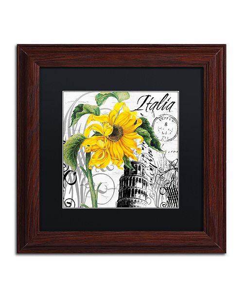 "Trademark Global Color Bakery 'Italia I' Matted Framed Art, 11"" x 11"""