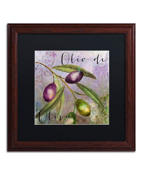 """Trademark Global Color Bakery 'Olivia I' Matted Framed Art, 16"""" x 16"""""""