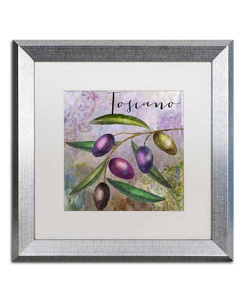 "Trademark Global Color Bakery 'Olivia Ii' Matted Framed Art, 16"" x 16"""