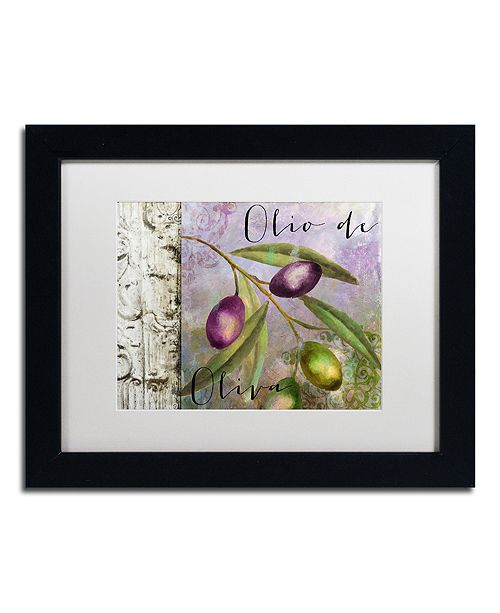 "Trademark Global Color Bakery 'Olivia Iii' Matted Framed Art, 11"" x 14"""