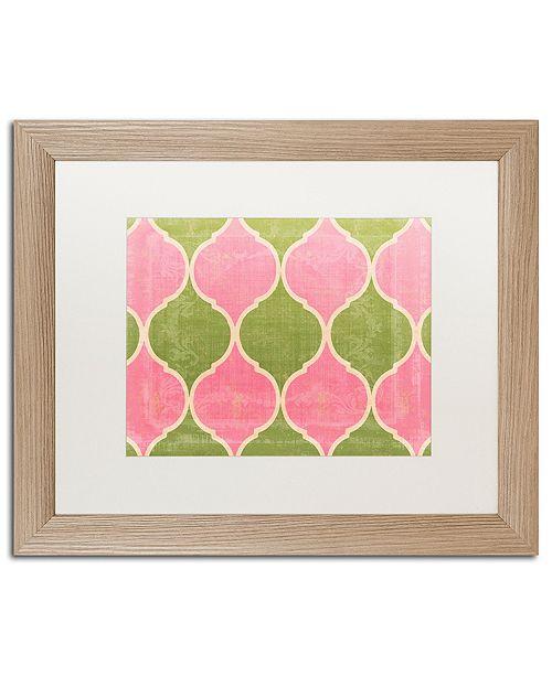 "Trademark Global Color Bakery 'Annabelle Lee Iii' Matted Framed Art, 16"" x 20"""