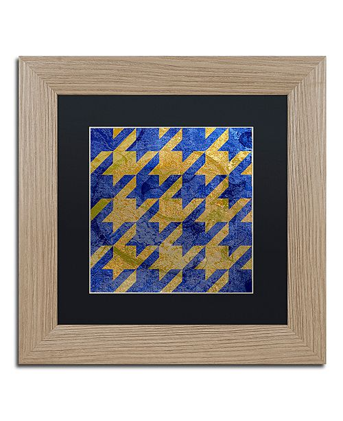 "Trademark Global Color Bakery 'Houndstooth Iii' Matted Framed Art, 11"" x 11"""
