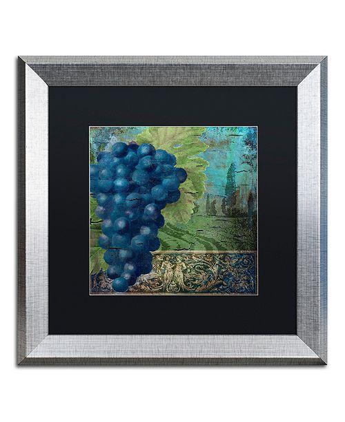 "Trademark Global Color Bakery 'Vino Blu Two' Matted Framed Art, 16"" x 16"""