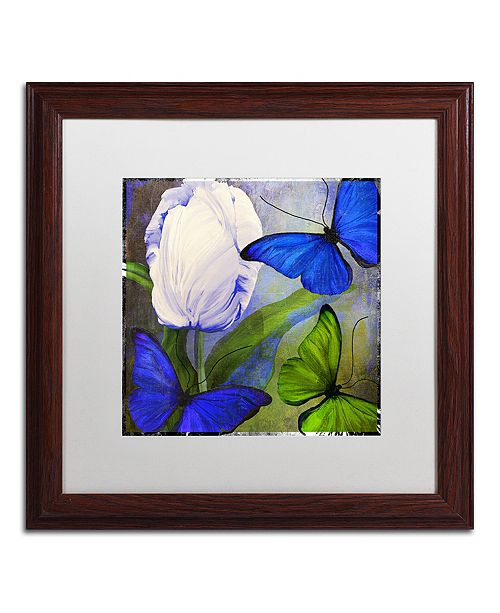 "Trademark Global Color Bakery 'Morphos One ' Matted Framed Art, 16"" x 16"""