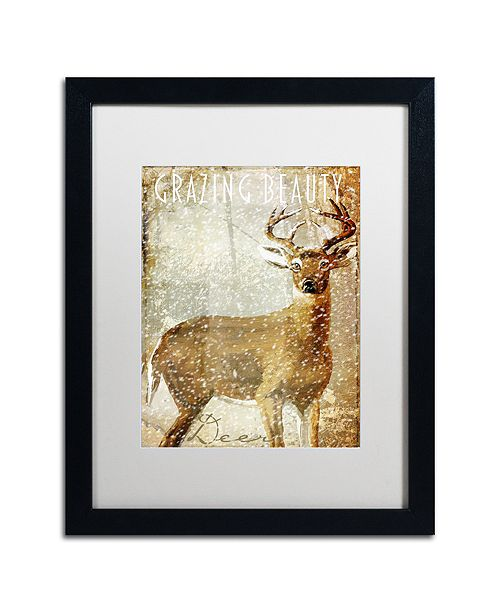 """Trademark Global Color Bakery 'Winter Game Two' Matted Framed Art, 16"""" x 20"""""""