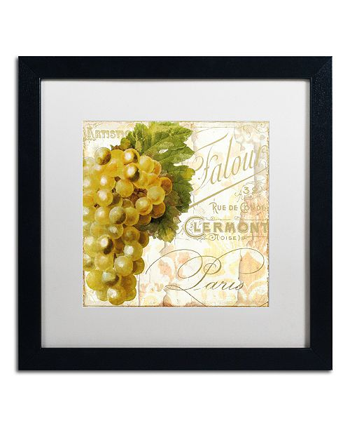 "Trademark Global Color Bakery 'Cafe D?Or Iii' Matted Framed Art, 16"" x 16"""