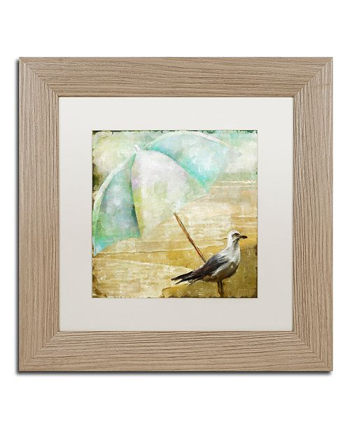 """Trademark Global Color Bakery 'By The Sea Iv' Matted Framed Art, 11"""" x 11"""""""