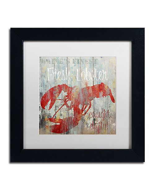 "Trademark Global Color Bakery 'Restaurant Seafood Iii' Matted Framed Art, 11"" x 11"""