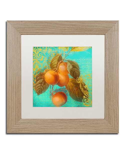 """Trademark Global Color Bakery 'Glowing Fruits I' Matted Framed Art, 11"""" x 11"""""""