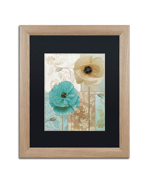 "Trademark Global Color Bakery 'Beach Poppies I' Matted Framed Art, 16"" x 20"""