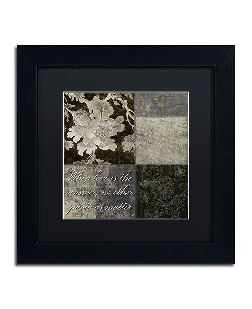 "Trademark Global Color Bakery 'When Love Is The Answer' Matted Framed Art, 11"" x 11"""