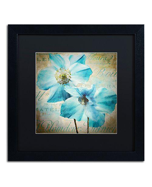 "Trademark Global Color Bakery 'Himalayan Blue I' Matted Framed Art, 16"" x 16"""