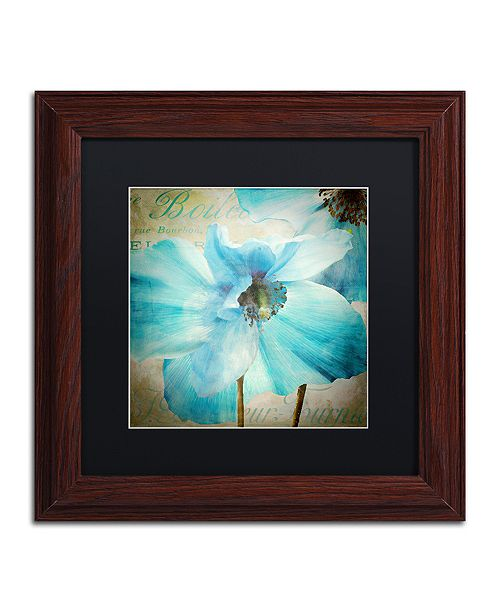 "Trademark Global Color Bakery 'Himalayan Blue Ii' Matted Framed Art, 11"" x 11"""