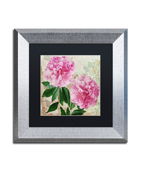"Trademark Global Color Bakery 'Sonata I' Matted Framed Art, 11"" x 11"""