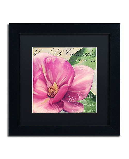"Trademark Global Color Bakery 'Pink Magnolia Ii' Matted Framed Art, 11"" x 11"""