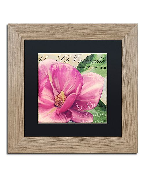 "Trademark Global Color Bakery 'Pink Magnolia Ii' Matted Framed Art, 11"" x 11"""