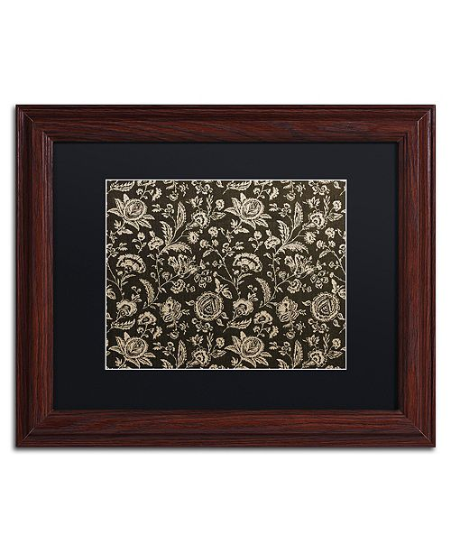 "Trademark Global Color Bakery 'Toile Fabrics Viii' Matted Framed Art, 11"" x 14"""