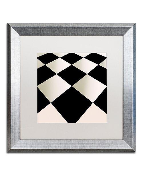 "Trademark Global Color Bakery 'Fifties Patterns V' Matted Framed Art, 16"" x 16"""