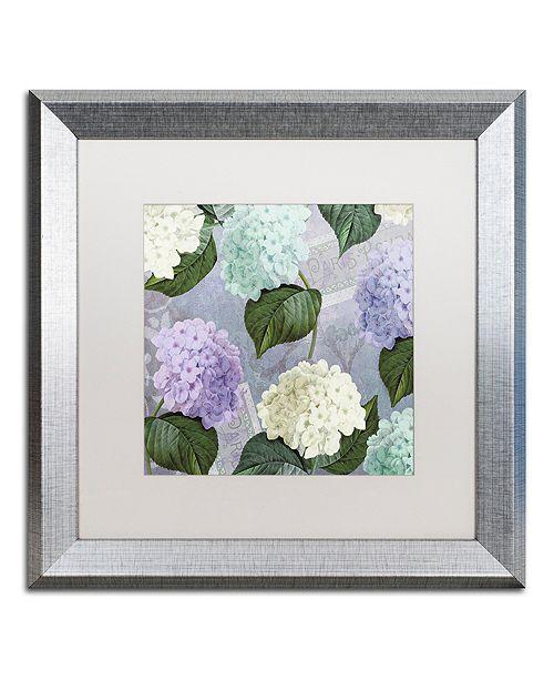 "Trademark Global Color Bakery 'Hortensia Lavenders' Matted Framed Art, 16"" x 16"""