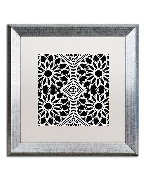 "Trademark Global Color Bakery 'Suriah Iii' Matted Framed Art, 16"" x 16"""
