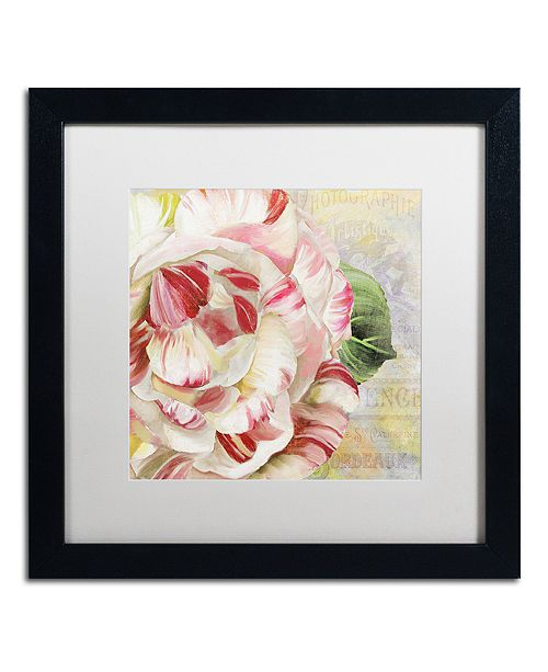"Trademark Global Color Bakery 'Camellias Ii' Matted Framed Art, 16"" x 16"""