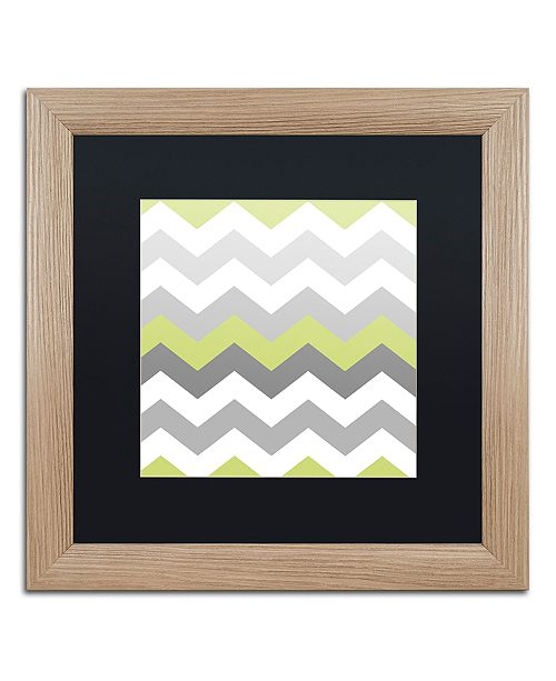 "Trademark Global Color Bakery 'Calyx Chevron' Matted Framed Art, 16"" x 16"""