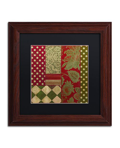 """Trademark Global Color Bakery 'Merry Christmas Patchwork Iii' Matted Framed Art, 11"""" x 11"""""""