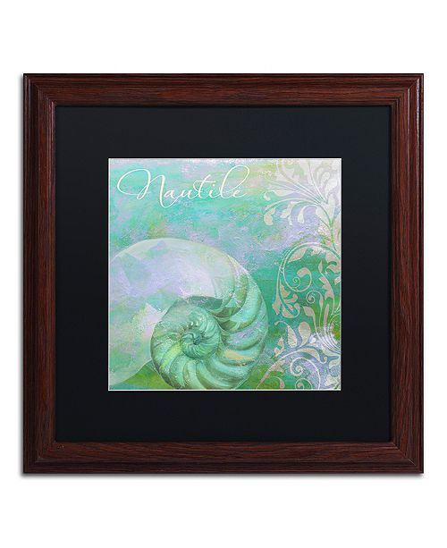 "Trademark Global Color Bakery 'Painted Sea I' Matted Framed Art, 16"" x 16"""