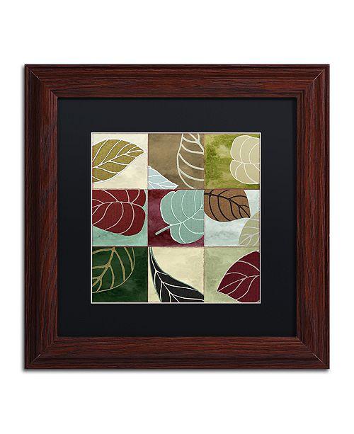 "Trademark Global Color Bakery 'Leaf Story Iii' Matted Framed Art, 11"" x 11"""