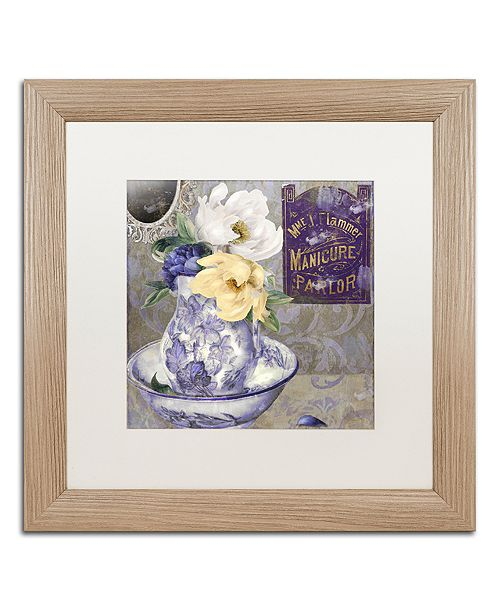 "Trademark Global Color Bakery 'Tableaux Ii' Matted Framed Art, 16"" x 16"""
