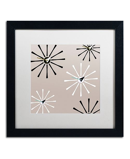 """Trademark Global Color Bakery 'Fifties Patterns Iv' Matted Framed Art, 16"""" x 16"""""""