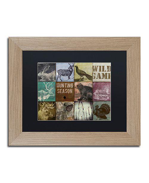 "Trademark Global Color Bakery 'Cabela Hunting Season 12' Matted Framed Art, 11"" x 14"""