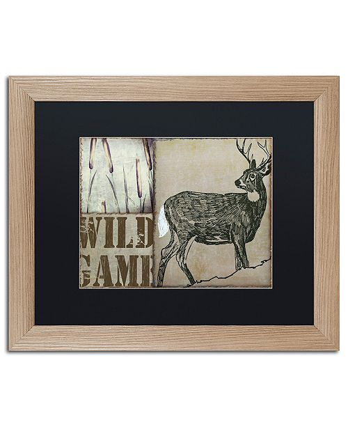 """Trademark Global Color Bakery 'Deer With White Tail' Matted Framed Art, 16"""" x 20"""""""