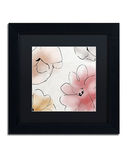 "Trademark Global Color Bakery 'Kasumi One' Matted Framed Art, 11"" x 11"""