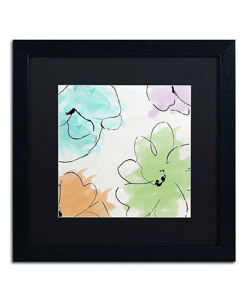 "Trademark Global Color Bakery 'Kasumi Three' Matted Framed Art, 16"" x 16"""
