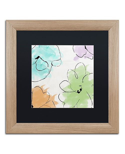 """Trademark Global Color Bakery 'Kasumi Three' Matted Framed Art, 16"""" x 16"""""""