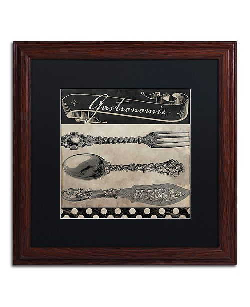 "Trademark Global Color Bakery 'Bistro Parisienne Ii' Matted Framed Art, 16"" x 16"""