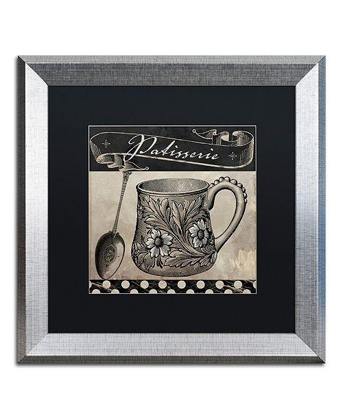 "Trademark Global Color Bakery 'Bistro Parisienne Iii' Matted Framed Art, 16"" x 16"""