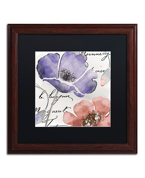"Trademark Global Color Bakery 'Fleurs De France Iii' Matted Framed Art, 16"" x 16"""