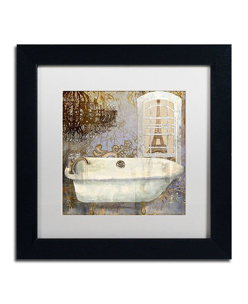 "Trademark Global Color Bakery 'Salle De Bain I' Matted Framed Art, 11"" x 11"""