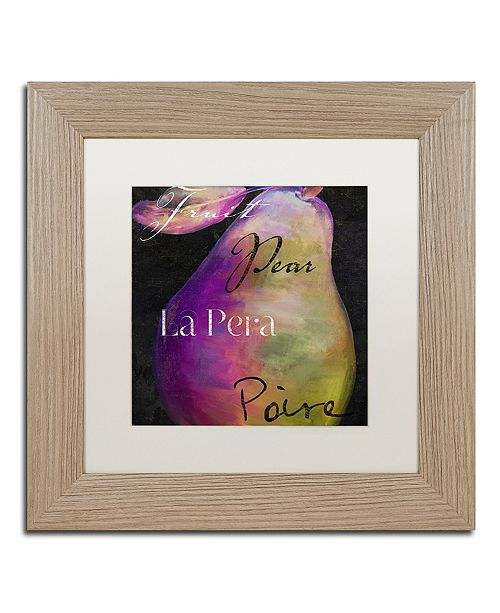 "Trademark Global Color Bakery 'Painted Pear Ii' Matted Framed Art, 11"" x 11"""