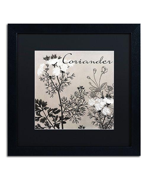 """Trademark Global Color Bakery 'Flowering Herbs Iv' Matted Framed Art, 16"""" x 16"""""""
