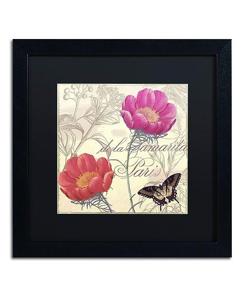 "Trademark Global Color Bakery 'Petals Of Paris I' Matted Framed Art, 16"" x 16"""