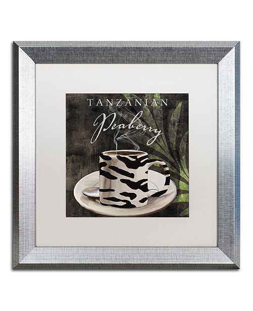 "Trademark Global Color Bakery 'Afrikan Coffee Ii' Matted Framed Art, 16"" x 16"""