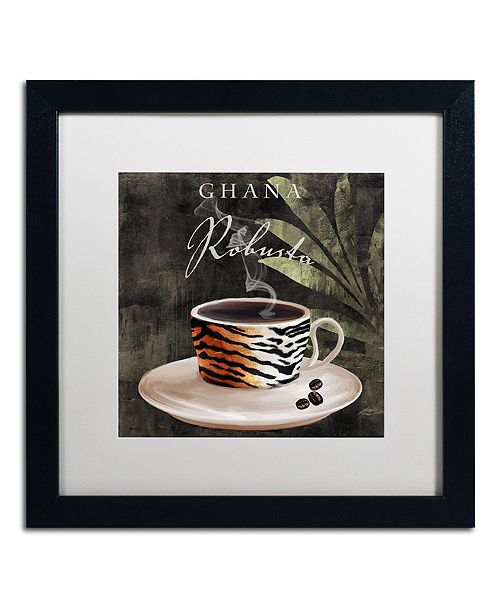 "Trademark Global Color Bakery 'Afrikan Coffee Iv' Matted Framed Art, 16"" x 16"""